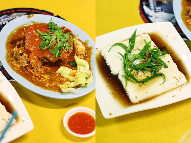 People's Park Hawker Center Chili Crab and Silken Tofu