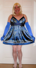 Wendy in sweet little silky dress (Wendy Satin) Tags: dress satin silky