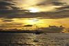 Goldden Sunrise (opzjon) Tags: sea sun beach clouds sunrise island boat day cloudy philippines bohol panglao panglaoisland goldensunrise