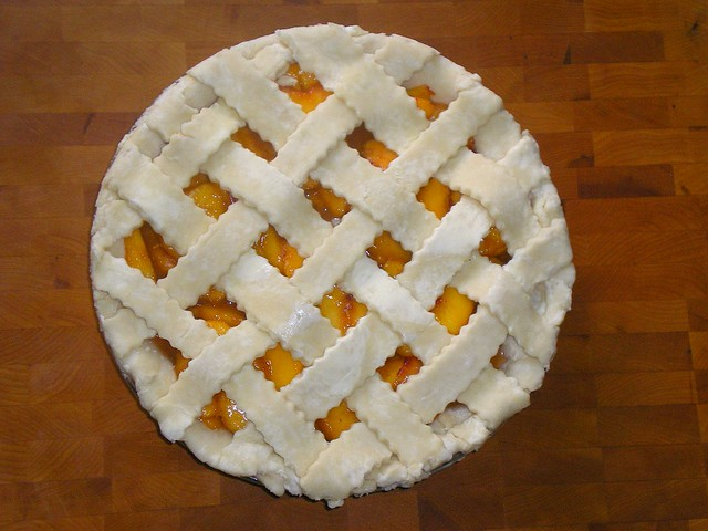 Lattice-top Peach Pie Unbaked