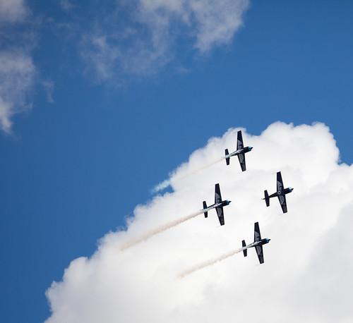 Having fun over RAF Benson - for RAF Benson Family Day