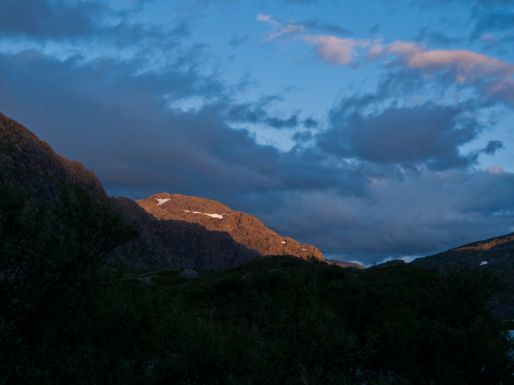 Solnedgang over Benjaminheia