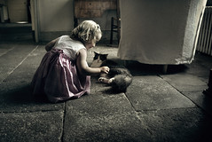 Zelie and the cat (sparth) Tags: leica old france cat living chair chat robe tail daughter august queue fille auvergne zelie ete x1 2011 leicax1 montaclier zeleetlechat zelieandthecat