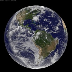 Full Disk Image of Earth Captured August 26, 2011 (NASA Goddard Photo and Video) Tags: nasa irene goddardspaceflightcenter hurricaneirene satelliteviewofhurricane