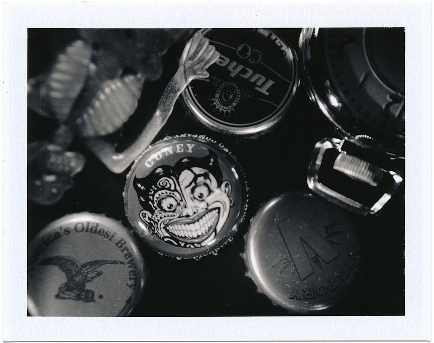 Bottle Cap Death Watch - Polaroid Closeup