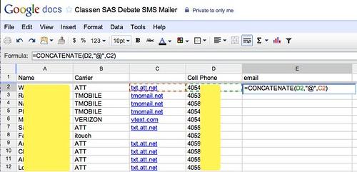 Classen SAS Debate SMS Mailer