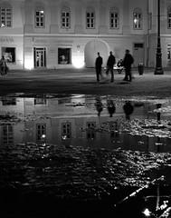 Reflecting Sibiu (Danology) Tags: travel bw mono romania transylvania sibiu romnia