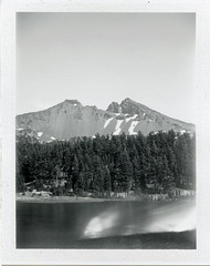 Green Lake, Bend OR (henry_cotton) Tags: summer white black nature oregon polaroid bend greenlake fp landcamera 100b