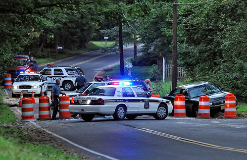 ILLEGALLY DAMMED LAKE, COLLAPSES ROAD- POLICE SIT FOR 4 DAYS, TODAY ON AUG 30TH DUMMY K-9S REPLACED OFFICERS AND SOMEONE TOOK ADVANTAGE AND DROVE THROUGH -THEIR FAULT, BUT IF SOMEONE DOES IT TONIGHT THE SOUTH SIDE LANE WILL FALL THROUGH, NO FLOOR UNDER PA by Angel Cher ♥