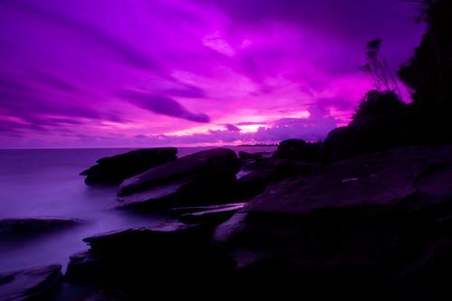 フリー写真素材, 自然・風景, 海岸, 雲, パープル,