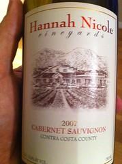 2007 Hannah Nicole Vineyards Cabernet Sauvignon