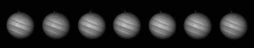 Jupiter with Ganymede coming out from behind by Mick Hyde