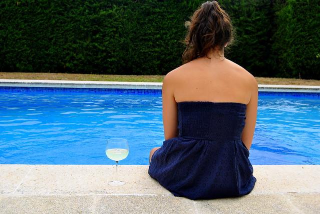 Mi mejor amiga, Alejandra, en su casa (verano'11)