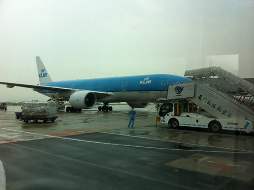 Safely landed in Xiamen, I forgot that @KLM now also flies to this Chinese city