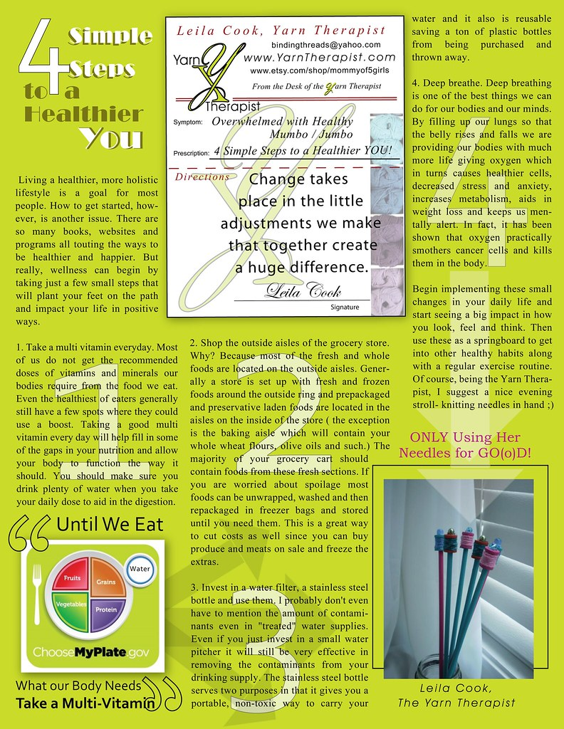 OM Times Magazine : Yarn Therapist : 4 Simple Steps to a Healthier You