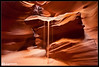 Sand Falls (Aaron M Photo) Tags: light arizona usa southwest underground landscape waterfall sand nikon sandstone rocks unitedstates desert canyon upper page antelope redrocks navajo nikkor slot slotcanyon antelopecanyon 2011 upperantelopecanyon sandfall d700 nikond700 aaronmeyersphotography sandwaterfall