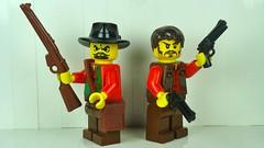 Ryan and Gunnar (remyth) Tags: cowboys lego western guns wildwest miners prospectors minifigures brickarms minfigs