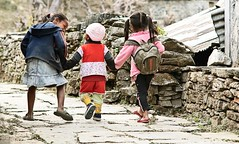 three (another story) Tags: travel school nepal three candid photojournalism naturallight together himalayas gurung southasia nikond2x annapurnasanctuarytrek ghandruk nikon8514