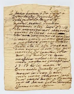 Nota di debito firmata da Anna Luini, 1670 ca, ALPE, Testatori, Luini Anna