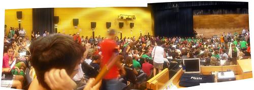 Panorámica de la Asamblea de Profesores de Secundaria del 31 de agosto en Madrid