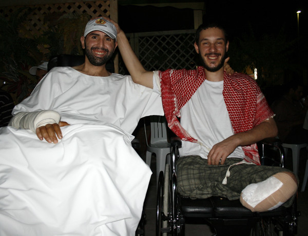 Ali ,on right, and friend