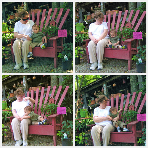 Nana and Luke first bench collage