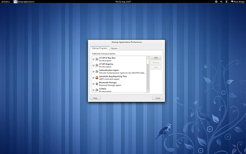 Fedora 15: gnome-session-properties