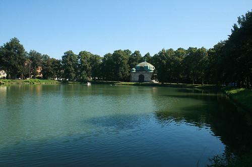 Hubertusbrunnen - Westende Schloßkanal Nymphenburg
