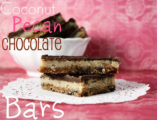 Coconut Pecan Chocolate Bars - Confessions of a Cookbook Queen