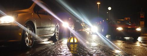 Autos vor der Ampel