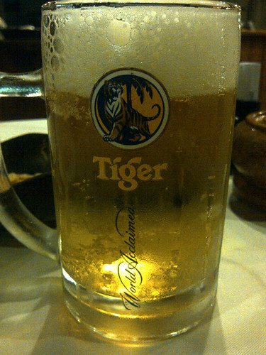 Tiger Draught @Bonsai Dinner Cruise, Saigon River, Ho Chi Minh