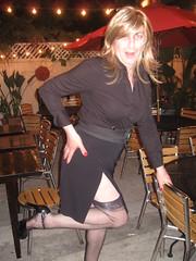 July 2011 (Patrice Bailey) Tags: stockings out outside tv highheels legs cd skirt crossdressing tgirl transgender tranny blonde transvestite crossdresser crossdress ts gurl tg hiheels higheels tgurl