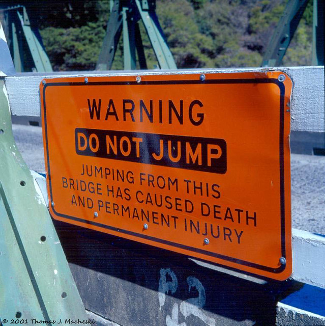 Sign On Pelorus Bridge