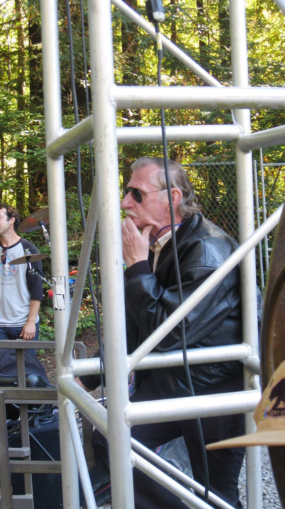 Bob Matthews, the great sound engineer for the Grateful Dead,  at Monte Rio Festival 09-04-11 041