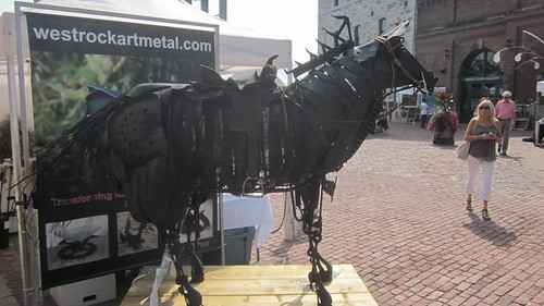 artFest metal horse sculpture, west rock metal art