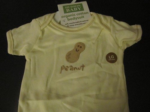 peanut onesie from amber