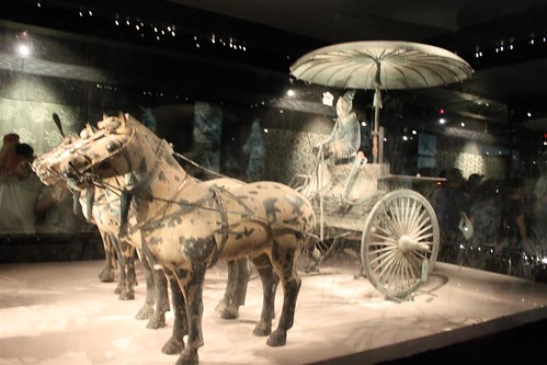 The restored No. 1 Chariot at Pit No. 2 at Museum of Qin Terra-cotta Warriors and Horses, Xi'an, China
