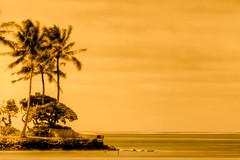 Waikiki Sunset Colors ... (s4n8eep) Tags: longexposure travel sunset beach canon hawaii oahu tripod 70200 hdr lr3 photomatix canoneos7d canon7d
