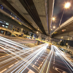 Higashi-Senba JCT (spiraldelight) Tags: car night pano junction explore  osaka jct expressways  eos5dmkii 1xcom tse17mmf4l  fineartportugal