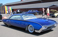 1962 ford thunderbird (bballchico) Tags: blue classic ford automobile wheels chrome custom thunderbird 1962 carshow hotrods tbird goodguys goodguyspacificnorthwestnationals