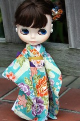 Ryoko in her blue kimono