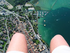 flying over Villeneuve (mujepa) Tags: lake flying geneva flight wing vol paragliding gliding lman villeneuve aile parapente vaud wow1 2011 sonchauxacroshow mygearandme rememberthatmomentlevel1