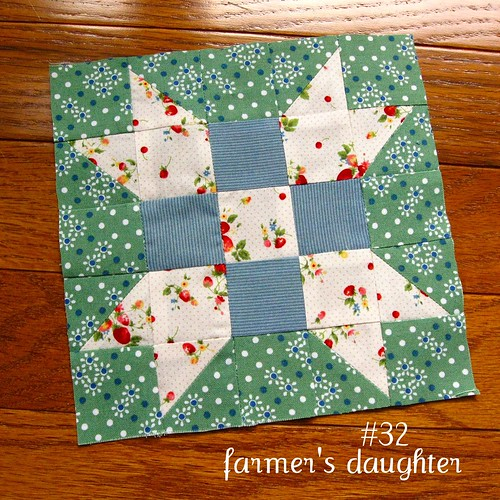 farmer's wife sampler, block 32