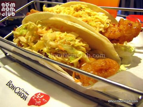 BonChon Fish Tacos