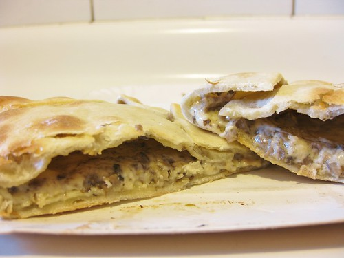 Mushroom and cheese empanada