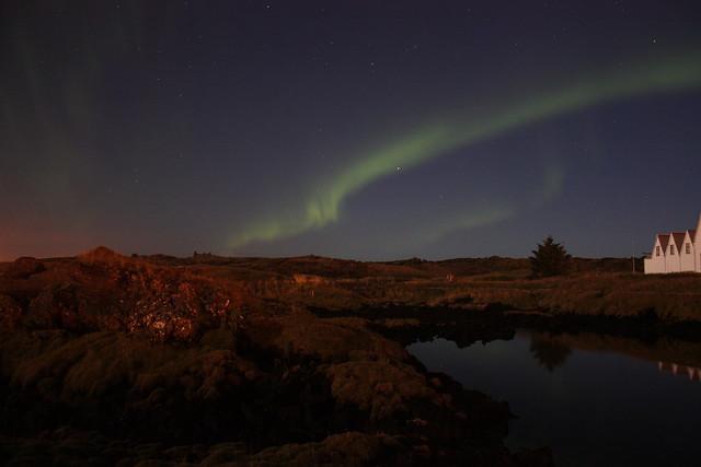 Northern lights: Straumur, Hafnarfjörður
