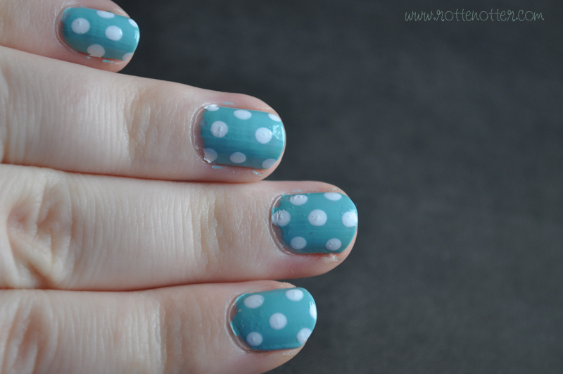 notd polka dot china glaze for audrey nail polish 01