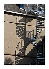 Shadow on the wall (Marjo1963) Tags: shadow netherlands wall stairs schaduw trap muur oudenbosch 092011