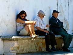 Relaxing (pedrosimoes7) Tags: people portugal candid sintra snapshot unesco elderlypeople nuestrosancianos streetpassionaward