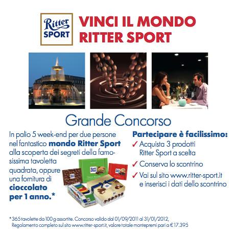 Concorso a Premi Ritter Sport - Vinci il mondo Ritter Sport
